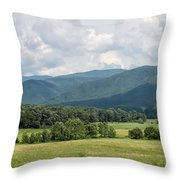 Cades Cove In Summer Throw Pillow by Todd Blanchard