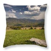 Cades Cove Landscape Throw Pillow