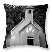 Cades Cove Missionary Baptist Church Throw Pillow