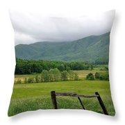 Cades Cove Mountains 1 Throw Pillow