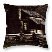 Cades Cove Reflections Throw Pillow