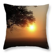 Cades Cove Sunrise Throw Pillow
