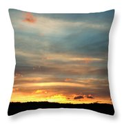 Cades Cove Sunset Throw Pillow