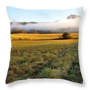 Cades Cove Valley Throw Pillow