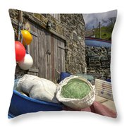 Cadgwith Fishing Paraphernalia  Throw Pillow