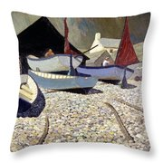 Cadgwith The Lizard Throw Pillow by Eric Hains