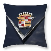 Cadillac Crest Throw Pillow