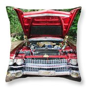 Cadillac Engine Throw Pillow