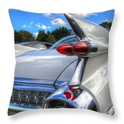 Cadillac Fin Throw Pillow