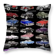 Never Enough Cadillacs  Throw Pillow