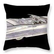 1963 64 Cadillac Roadster Concept Throw Pillow