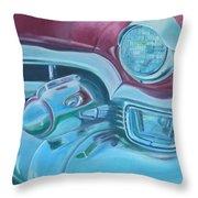 Cadzilla 1953 Cadillac Series 62 Convertible Throw Pillow