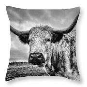 Cadzow White Cow Throw Pillow