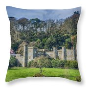 Caerhays Castle Throw Pillow