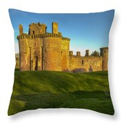 Caerlaverock Castle - 1 Throw Pillow