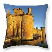 Caerlaverock Castle - 2 Throw Pillow