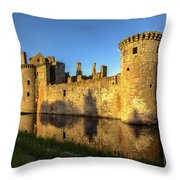 Caerlaverock Castle - 3 Throw Pillow