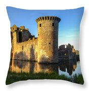 Caerlaverock Castle - 4 Throw Pillow