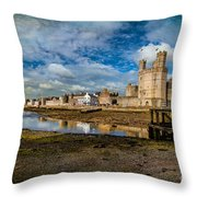 Caernarfon Castle Throw Pillow