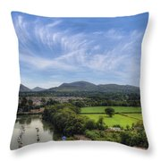 Caernarfon Harbour Throw Pillow