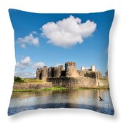 Caerphilly Castle 1 Throw Pillow