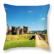 Caerphilly Castle 2 Throw Pillow