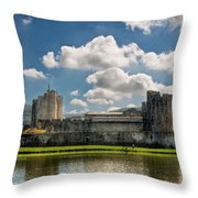 Caerphilly Castle 3 Throw Pillow