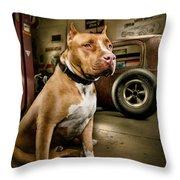 Caesar At Millers Chop Shop Throw Pillow