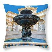 Caesars Fountain Throw Pillow