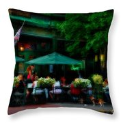 Cafe Alfresco Throw Pillow