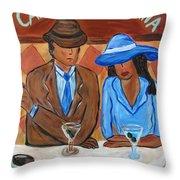 Cafe Americana Throw Pillow