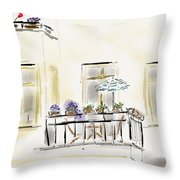 Cafe At Gorky Park Berlin Throw Pillow