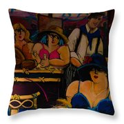 Cafe Bar In Montmartre Throw Pillow