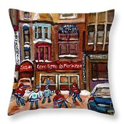 Cafe Bistro La Marinara Throw Pillow