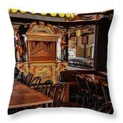 Cafe Chez Eugene - Montmartre Throw Pillow