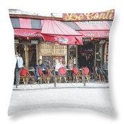 Cafe Conti Throw Pillow