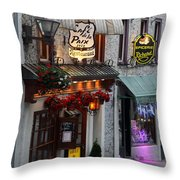 Cafe De La Paix Throw Pillow