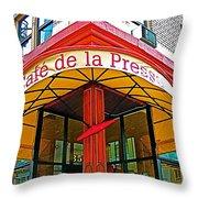 Cafe De La Presse In San Francisco-california  Throw Pillow