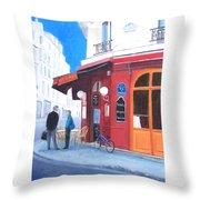 Cafe Des Musees Paris Throw Pillow