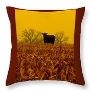 Cafe Du Mais Throw Pillow