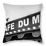 Cafe Du Monde Panoramic Picture Throw Pillow