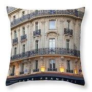 Cafe Francais Throw Pillow