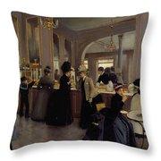 Cafe Gloppe Throw Pillow