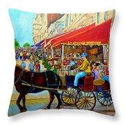 Cafe La Grande Terrasse Throw Pillow