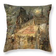 Cafe La Marin. Paris Throw Pillow