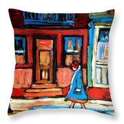 Cafe Laurier Montreal Throw Pillow