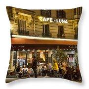 Cafe Luna Throw Pillow