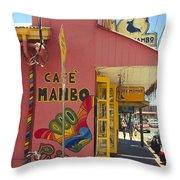 Cafe Mambo Paia Maui Hawaii Throw Pillow