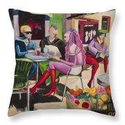 Cafe Marseille Throw Pillow