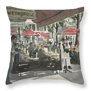 Cafe Metropole Throw Pillow
